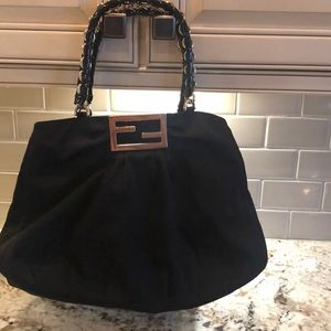 100% authentic fendi black bag